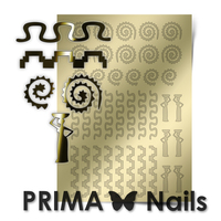 Металлизированные наклейки Prima Nails. Арт.OR-006, Золото