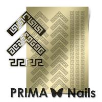 Металлизированные наклейки Prima Nails. Арт.OR-007, Золото