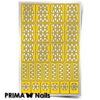 Трафарет для дизайна ногтей PrimaNails. Орнамент Треугольники
