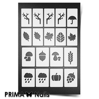 Трафарет для ногтей PrimaNails.NEW SIZE Осень