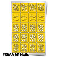 Трафарет для дизайна ногтей PrimaNails. Осенний принт