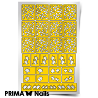 Трафарет для дизайна ногтей PrimaNails. Пазл