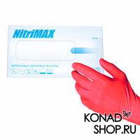 Перчатки NitriMAX (блок)  КРАСНЫЕ - M