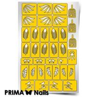 Трафарет для дизайна ногтей PrimaNails. Перышки New