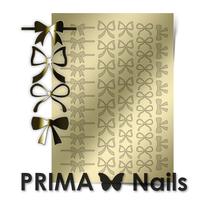 Металлизированные наклейки Prima Nails. Арт.PR-001, Золото