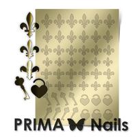 Металлизированные наклейки Prima Nails. Арт.PR-003, Золото