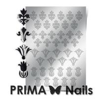 Металлизированные наклейки Prima Nails. Арт.PR-004, Серебро