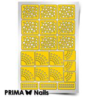 """Трафарет для дизайна ногтей PrimaNails. Принт """"Горошек"""""""