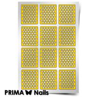 Трафарет для дизайна ногтей PrimaNails. Принт «Кирпичики 1»