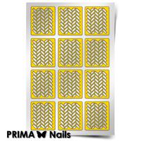 Трафарет для дизайна ногтей PrimaNails. Принт «Кирпичики 2»