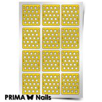 Трафарет для дизайна ногтей PrimaNails. Принт «Крестики»