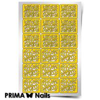 """Трафарет для дизайна ногтей PrimaNails. Принт """"Лепестки"""""""