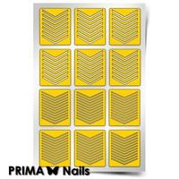 Трафарет для дизайна ногтей PrimaNails. Принт Шевроны Микс