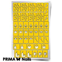 Трафарет для дизайна ногтей PrimaNails. Принцесса