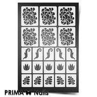 Трафарет для ногтей PrimaNails.NEW SIZE Растительный узор - 2
