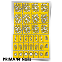 Трафарет для дизайна ногтей PrimaNails. Растительный узор - 2