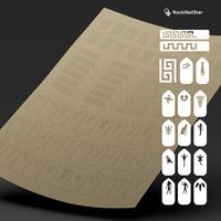 """Трафарет для дизайна ногтей """"RockNailStar"""". Египет"""
