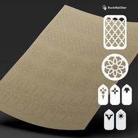 """Трафарет для дизайна ногтей """"RockNailStar"""". Марокко"""