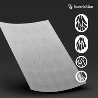 """Трафарет для дизайна ногтей """"RockNailStar"""" Мини. Бабочки"""