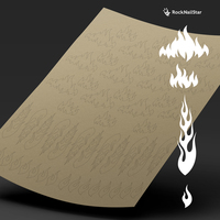 """Трафарет для дизайна ногтей """"RockNailStar"""". Огонь"""