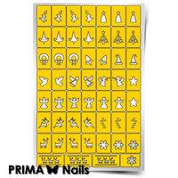 Трафарет для дизайна ногтей PrimaNails. Рождество