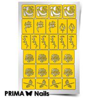 Трафарет для дизайна ногтей PrimaNails. Розы