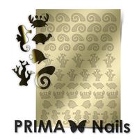 Металлизированные наклейки Prima Nails. Арт.SEA-005, Золото