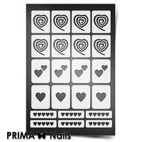 Трафарет для ногтей PrimaNails.NEW SIZE Сердечки