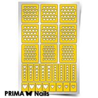 Трафарет для дизайна ногтей PrimaNails. Сердца 2 New