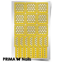 Трафарет для дизайна ногтей PrimaNails. Сердца 3 New