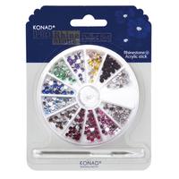 Набор страз KONAD Set 05. Круглые, 12 цветов 3 мм