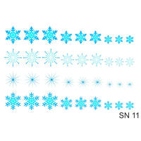 Слайдер-дизайн Nail Dream - Снежинки SN11