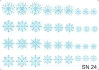 Слайдер-дизайн Nail Dream - Снежинки SN24