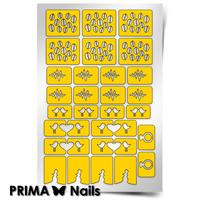 Трафарет для дизайна ногтей PrimaNails. Стрела Амура