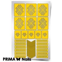 Трафарет для дизайна ногтей PrimaNails. Уголки New
