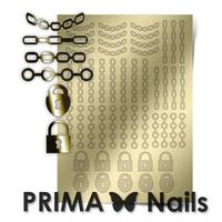 Металлизированные наклейки Prima Nails. Арт. UZ-01, Золото
