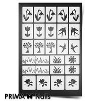 Трафарет для ногтей PrimaNails.NEW SIZE Весна