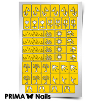 Трафарет для дизайна ногтей PrimaNails. Весна