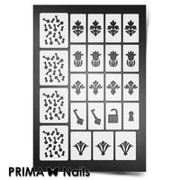 Трафарет для ногтей PrimaNails.NEW SIZE Винтаж