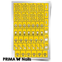 Трафарет для дизайна ногтей PrimaNails. Винтаж