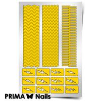 Трафарет для дизайна ногтей PrimaNails. Волны и молнии
