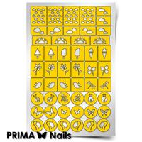 Трафарет для дизайна ногтей PrimaNails. Лето
