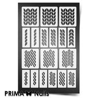Трафарет для ногтей PrimaNails.NEW SIZE Вязаная сказка