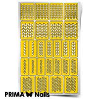 Трафарет для дизайна ногтей PrimaNails. Вязаная сказка