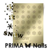Металлизированные наклейки Prima Nails. Арт.W-01, Золото