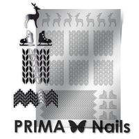 Металлизированные наклейки Prima Nails. Арт.W-04, Серебро