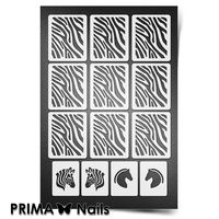 Трафарет для ногтей PrimaNails.NEW SIZE Зебра