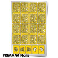Трафарет для дизайна ногтей PrimaNails. Зебра