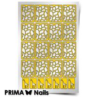Трафарет для дизайна ногтей PrimaNails. Жираф