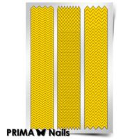 Трафарет для дизайна ногтей PrimaNails. Зигзаги